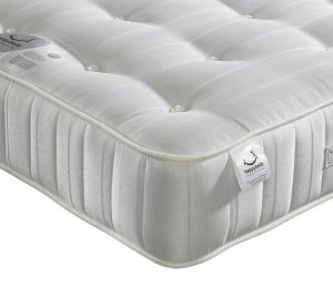 Orthopaedic Open Coil Spring, Happy Beds Super Ortho Medium Firm Tension Mattress with Reflex Foam - 4ft6