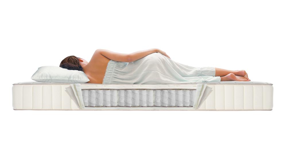 Woman Sleeping on mattress comfortable sleeping
