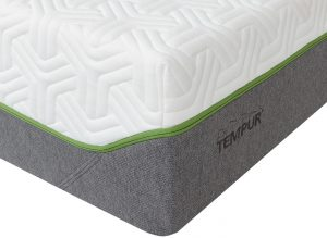 tempur mattress with green trim