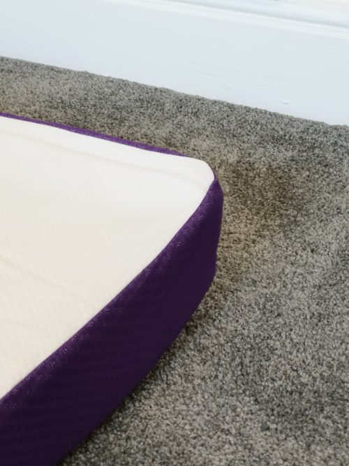 The Snuzsurface immediately starts to unroll and become flat once opened.