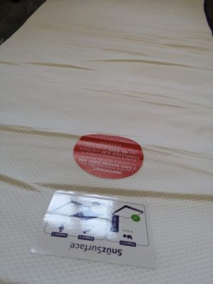 The Snuzsurface needs to be allowed to relax and flatten out for 7 days before first use.